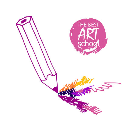 interesting: pencil vector illustration design school object art Illustration