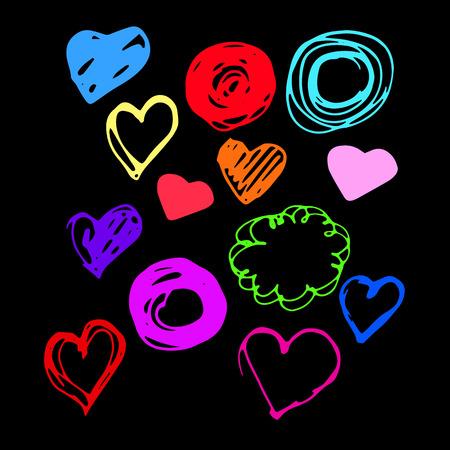 heart vector red day symbol element love icon design color romanti
