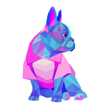 dog vector breed cute pet animal bulldog french Ilustração