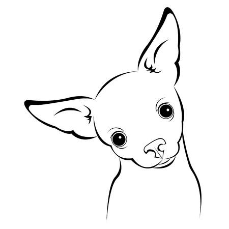 犬ベクトルおかしい少しホーム耳背景  イラスト・ベクター素材