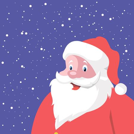 claus: vector christmas santa claus red happy holiday