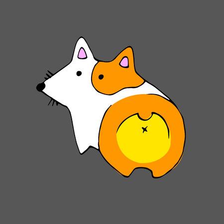 vector welsh dog animal illustration pet ears Illustration