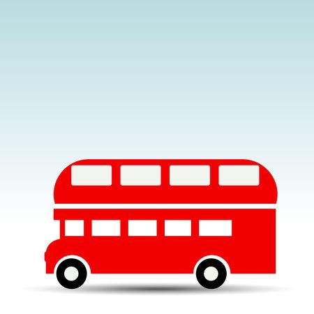 Vector illustration. travel, design, tourism, bus, clock