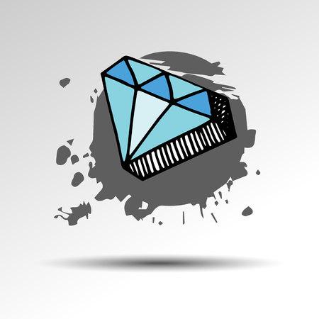 royal wedding: diamond vector crystal brilliant shiny gemstone icon gemstone jewelry expensive