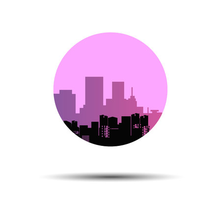 city silhouette vector architecture cityscape abstract illustration downtown Illustration