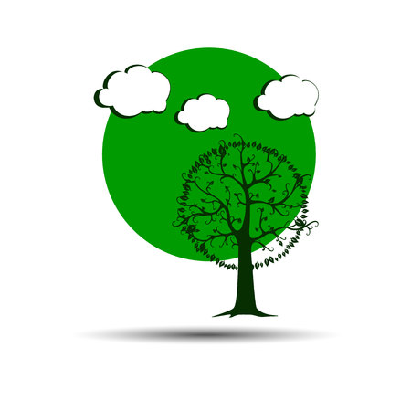 landscape vector  forest  illustration background silhouette tree
