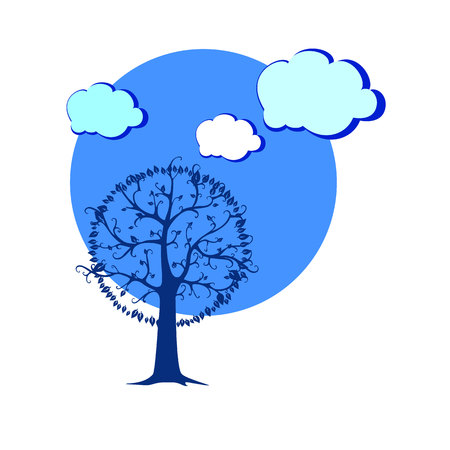 interesting: landscape vector  forest  illustration background silhouette tree