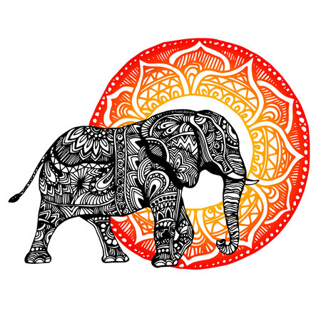 elephant Illustration for design, pattern, textiles. Used for children clothes, pajamas
