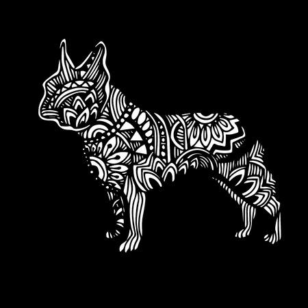 Gog, vector, breed, cute, pet, animal, bulldog, french Illustration