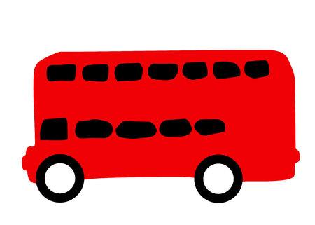 bus, london, red, travel, illustration, transport, vector Illustration