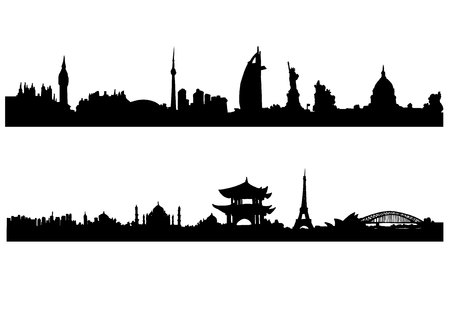 sights: country, illustration, city, architecture, tower, travel, symbol