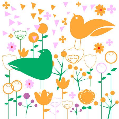 interesting: vector nature illustration bird art design graphic