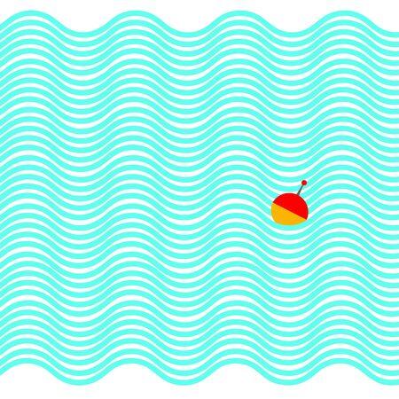 vector water background illustration float wave sea