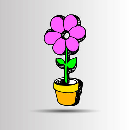 linearity: flower abstract vector floral icon element design