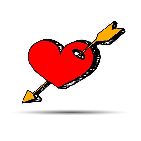 heart vector red day symbol element love icon design color romantic
