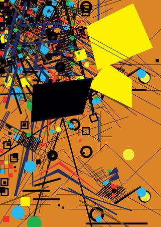 brightness: vector background color circle color lines black Illustration
