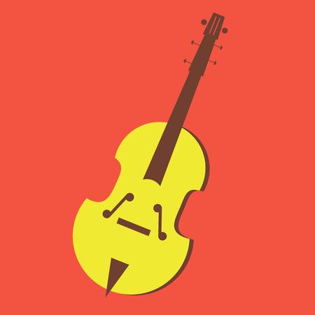 vector music violin illustration icon art Illustration