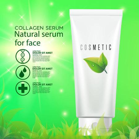 Cosmetic beauty cream bottle design vector. Care, cosmetic