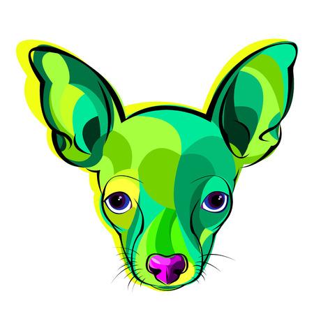 dog, vector, illustration, terrier, design, head, anima