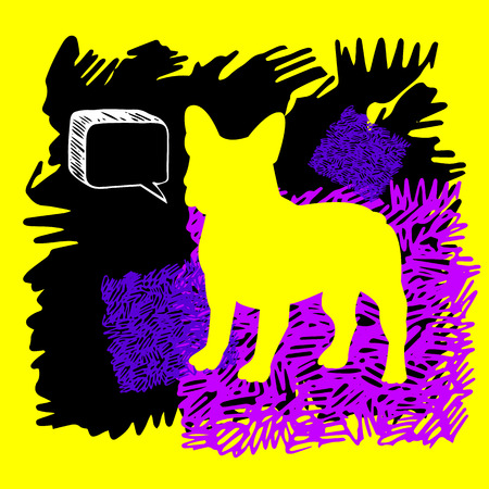 bulldog, dog, animal, french, vector, illustration, pet, breed, cute, drawing