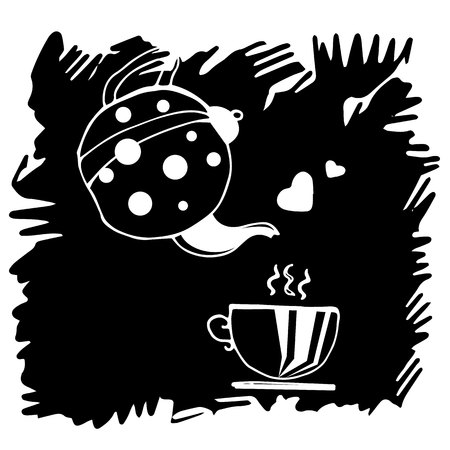 sweaty: pot, vector, kitchen, brown, aroma, drink, commercial, restaurant