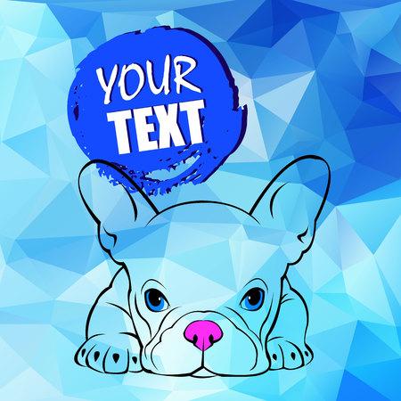 Ilustración vectorial de perro Foto de archivo - 81451832