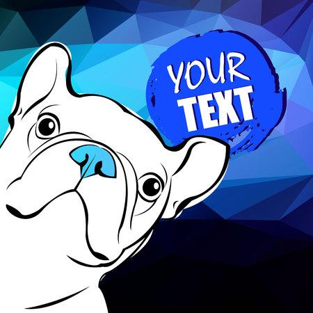 companion: dog vector illustration