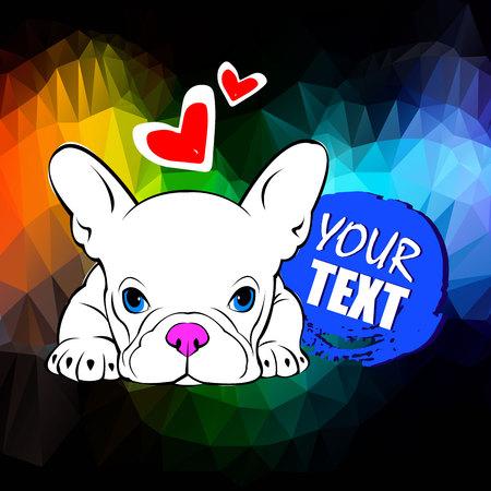 Ilustración vectorial de perro Foto de archivo - 81452395