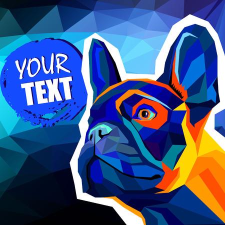 Ilustración vectorial de perro Foto de archivo - 81452775