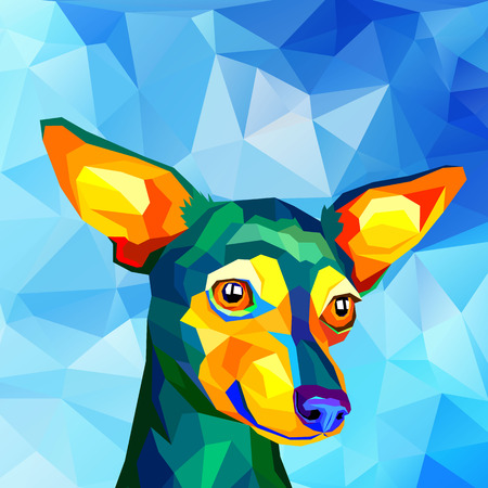 dog vector small drawing illustration pet animal