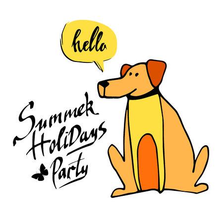 dog animal puppy pet vector graphic thoroughbred Illustration