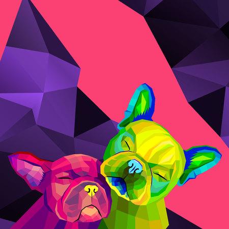 Bulldog, cane, animale, francese, vettore, illustrazione, animale domestico, razza, carino Archivio Fotografico - 81769668