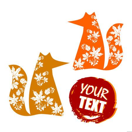 foxy: Fox, illustration, orange, wild, animal, cartoon, art, vector, wildlife