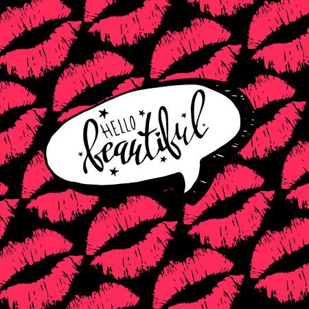 A calligraphy, lettering, handwritten, font, kiss, valentine, vector, day, love illustration. Illustration
