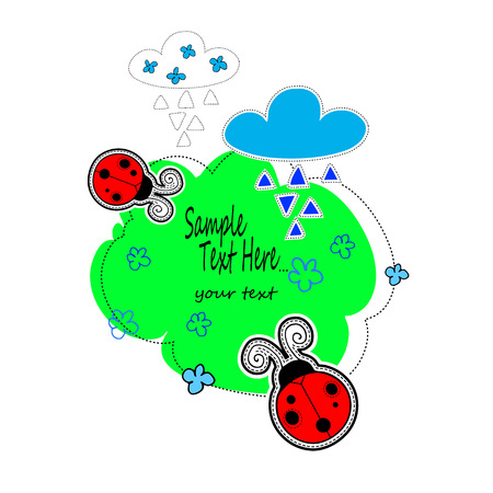 ladybug, vector, bug, insect, nature, ladybird, illustration, cute, red Illustration