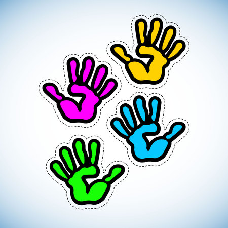 vector color handprint