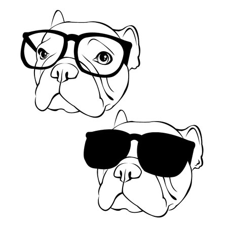 French Bulldog. Vector illustration for a poster. Cute puppy. dog.