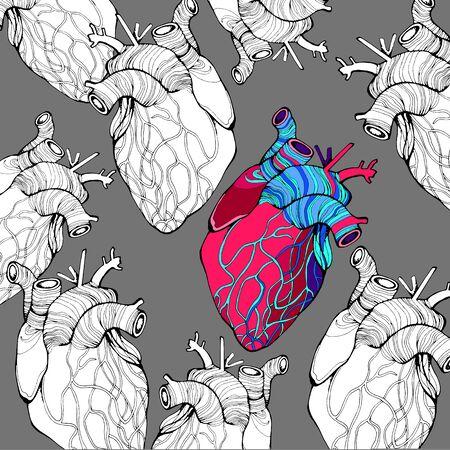 heart monitor: heart, vector, health, love, illustration, life, medical, living, art, graphic
