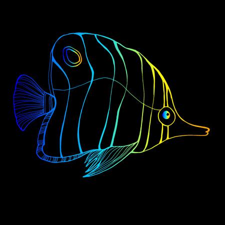 fish vector underwater sea ocean illustration marine Ilustrace