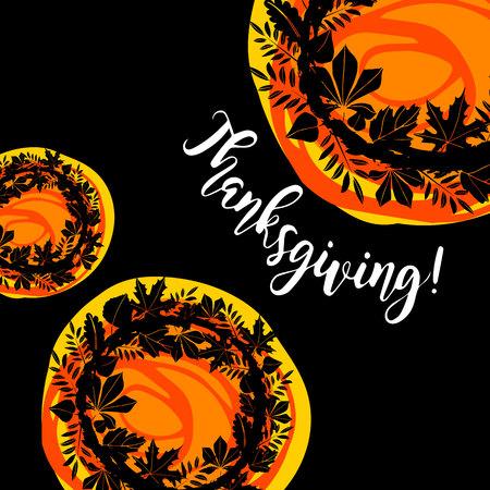 Happy Thanksgiving Celebration Design. Vector illustration. Holiday, thanksgiving, canada