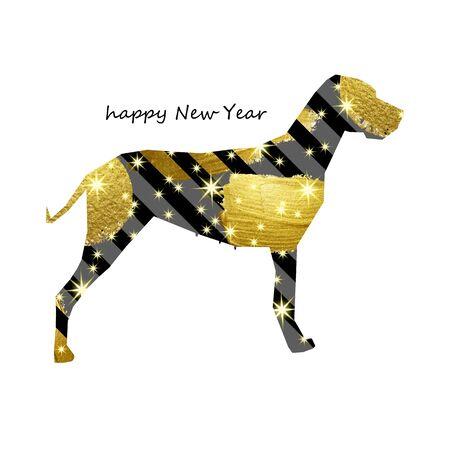 year, dog, chinese, new, vector, illustration, symbol, zodiac, design, decoration Illustration