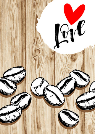 coffee, cup, love, drink, cafe, design, vector, illustration, heart, hot, white, breakfast Stok Fotoğraf - 110312519