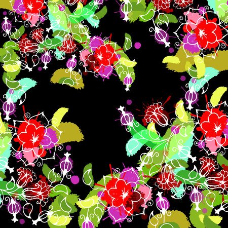 floral, flower, spring, summer, background, botanical, garden, art, nature