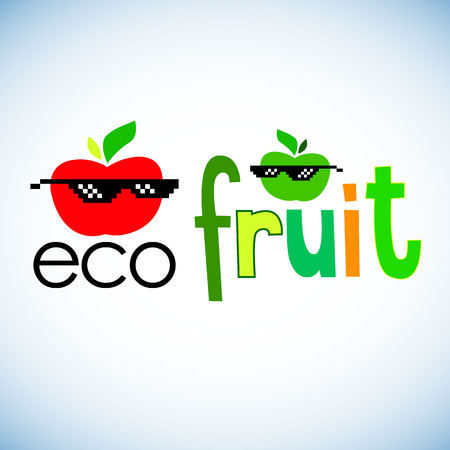 vector, fruit, leaf, illustration, apple, fresh, nature, food, organic, healthy