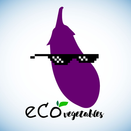 eggplant, vector, food, vegetable, illustration, health, organic, fresh