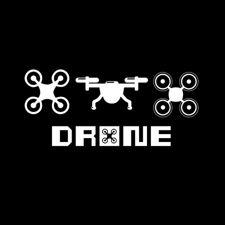 drone, technology, vector, aerial, fly, icon, camera, helicopter Çizim