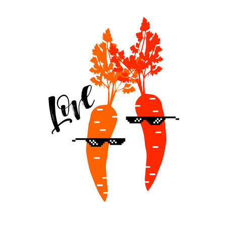 vector illustration food carrot graphic leaf vegetable Stok Fotoğraf - 110312571