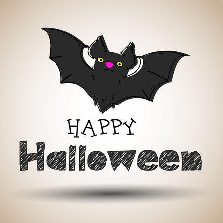 vector, halloween, night, moon, horror, bat, background, october, spooky, design