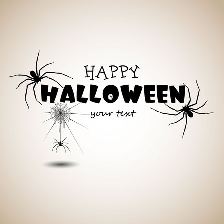 spider, vector, halloween, horror, nature, phobia, black, illustration, fear, insect