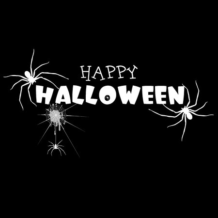 spider, vector, halloween, horror, nature, phobia, black, illustration, fear, insect Çizim